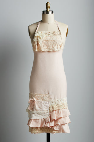 Linen and Lace Apron LONG