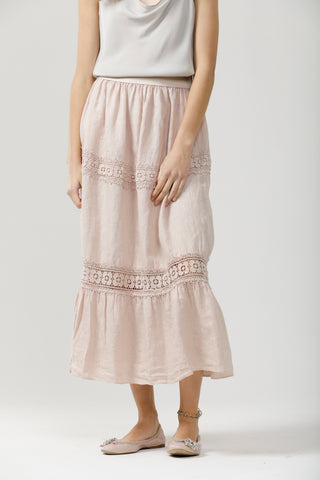 Long Capri Skirt - Pure Linen