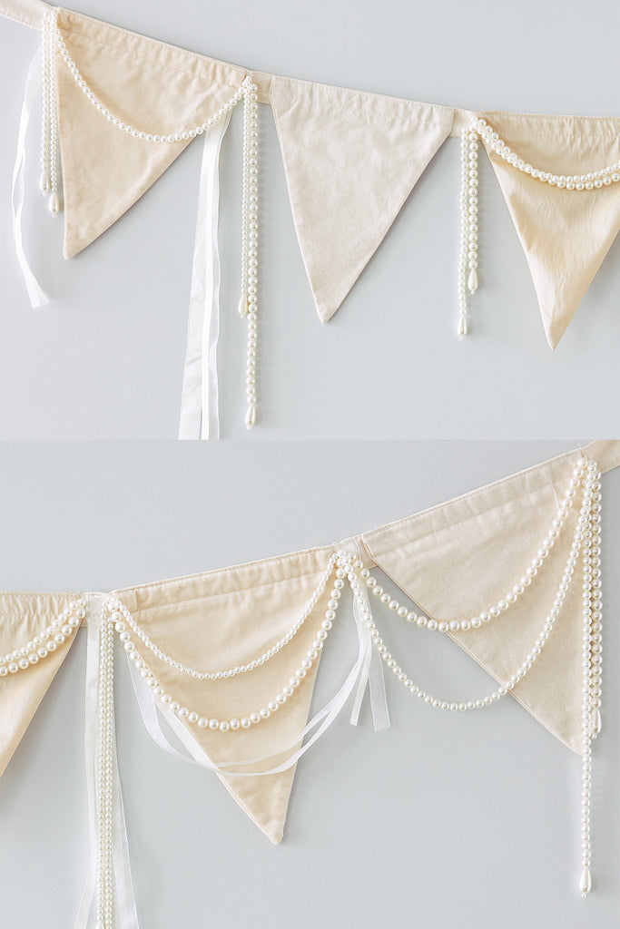 Ribbon and Pearls Bunting
