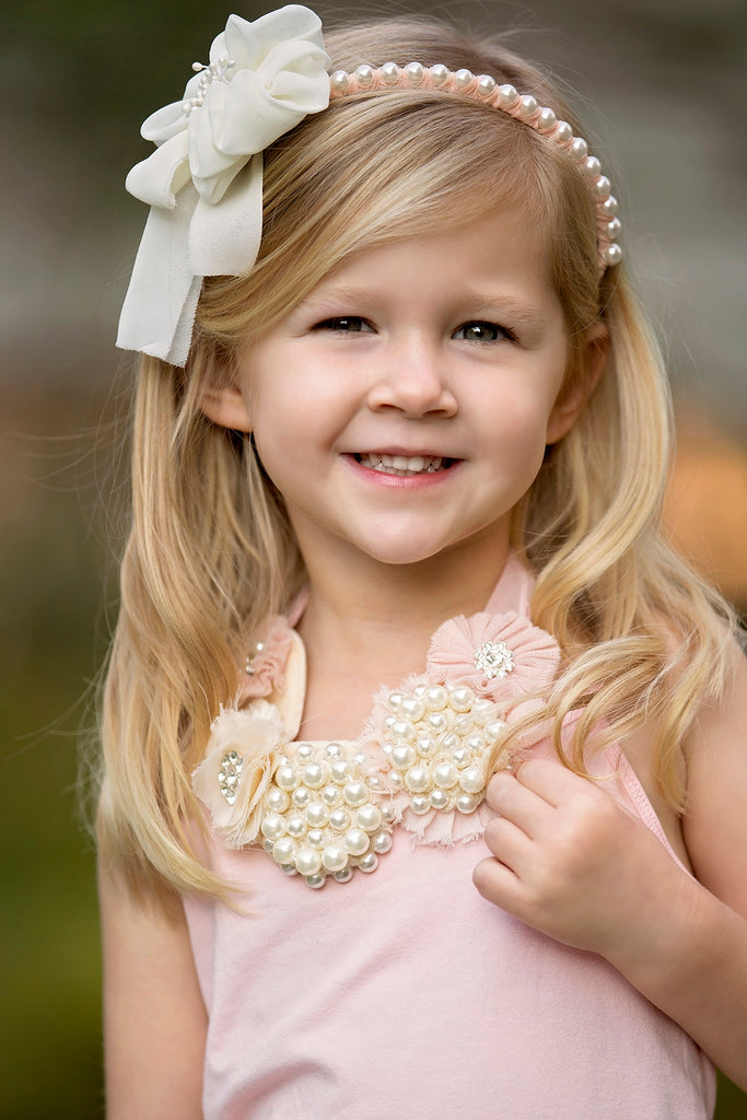 Pearl and Flower headband