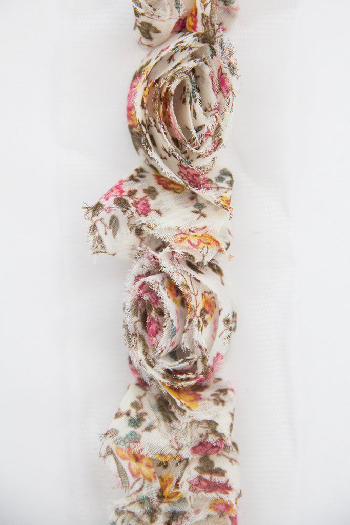 Rose Ruffle Trim - Floral