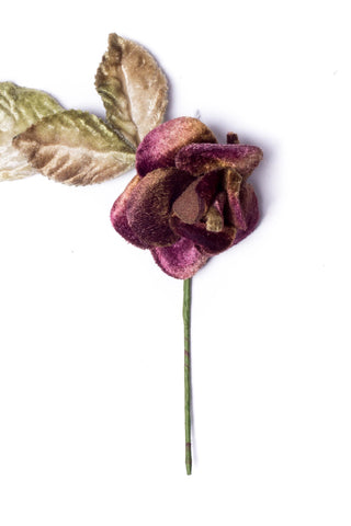 Small Velvet Rose Antique Purple