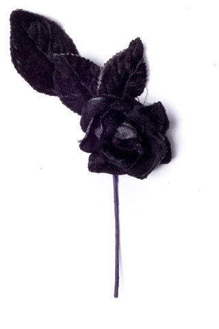 Small Velvet Rose Black