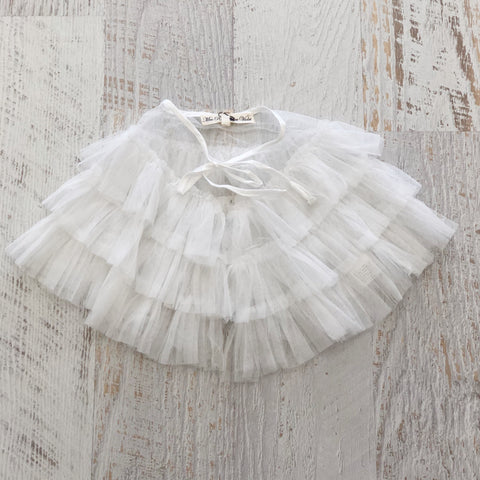 Fairy Tulle Cape - WHITE