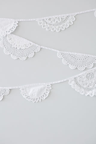 Lace Doily Bunting