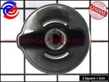 0019008096 COOKTOP STAINLESS STEEL KNOB WESTINGHOUSE