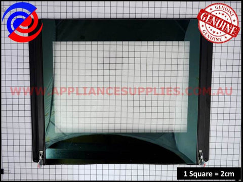 0038001875 OVEN DOOR INNER PANEL INCLUDING HINGES CHEF WESTINGHOUSE