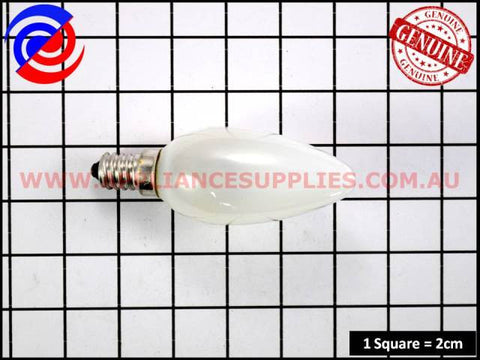 0060002083K RANGEHOOD LAMP 40W CANDLE 240V SES CLEAR WESTINGHOUSE CHEF SIMPSON