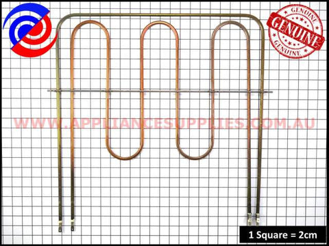 0122004501 OVEN ELEMENT GRILL BOOST WESTINGHOUSE CHEF SIMPSON FISHER & PAYKEL