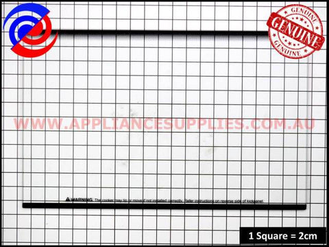 0255003355 OVEN GLASS OUTER OV/DOOR WESTINGHOUSE SIMPSON CHEF