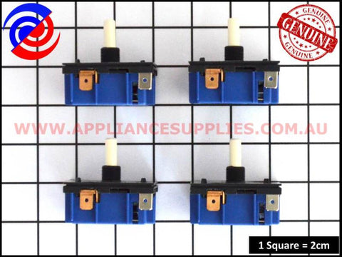 4 x 0534001654 COOKTOP HOTPLATE INFINITE SWITCH MP101 WESTINGHOUSE CHEF SIMPSON ELECTROLUX