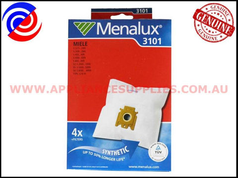 T22F 3101 VACUUM BAGS MENALUX SUITS: MIELE (PACK OF 5)