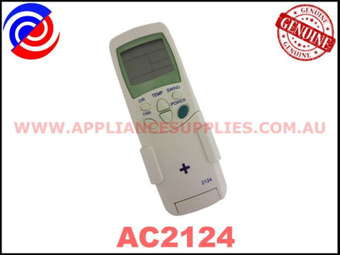 AC2124 GENUINE AIR CONDITIONER REMOTE CONTROL UNIVERSAL