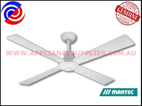 "CFW124 48"" 4 BLADE WHITE CEILING FAN NO LIGHT FOUR SEASONS ALPHA"