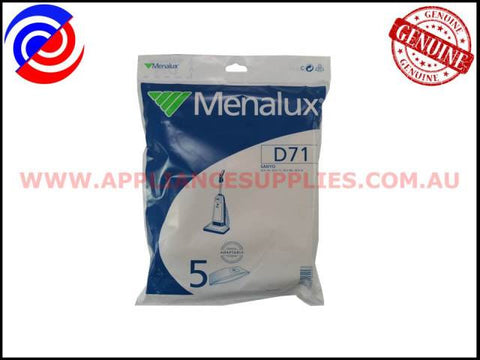 D71 VACUUM BAGS MENALUX SUITS: SANYO (PACK OF 5)