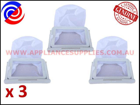3 x DC91-11376F WASHING MACHINE LINT FILTER ASSEMBLY SAMSUNG