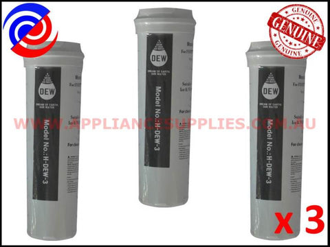 3 x 836848 836860 REFRIGERATOR QUALITY REPLACEMENT WATER FILTER FISHER & PAYKEL