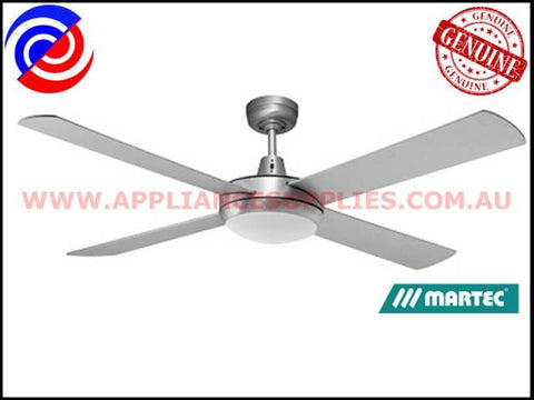 "DLS1341B 52"" 4 BLADE BRUSHED ALUMINIUM 100W HALOGEN LIGHT CEILING FAN MARTEC LIFESTYLE"