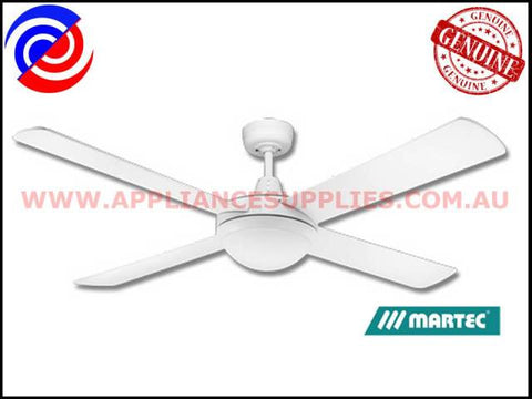 "DLS1342W 52"" 4 BLADE WHITE 26W ENERGY SAVING LIGHT CEILING FAN MARTEC LIFESTYLE"