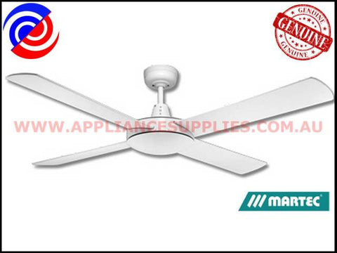 "DLS134W 52"" 4 BLADE WHITE CEILING FAN NO LIGHT MARTEC LIFESTYLE"