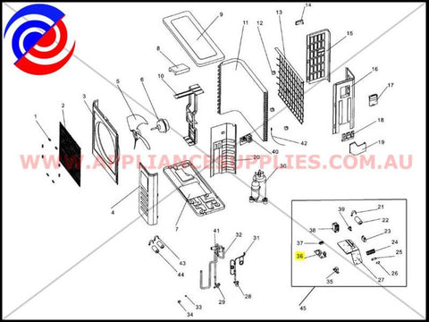 15024121801 AIR CONDITIONER OUTDOOR MAIN PCB ELECTROLUX KELVINATOR