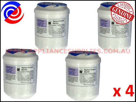 4 x AQUA BLUE REFRIGERATOR MWF REPLACEMENT WATER FILTER GE AMANA KENMORE