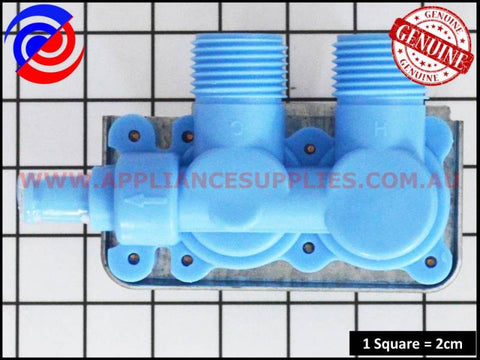 J006 WASHING MACHINE USA DOUBLE INLET WATER VALVE KLEENMAID MAYTAG SPEEDQUEEN WHIRLPOOL