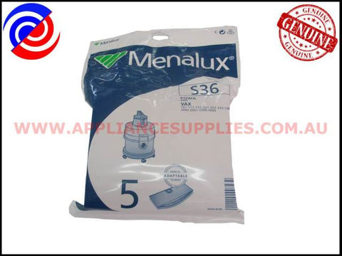 S36 6885P VACUUM BAGS MENALUX SUITS: POWA AND VAX (PACK OF 4)
