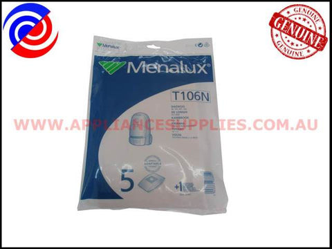 T106N VACUUM BAGS MENALUX SUITS: DAEWOO, DELONGHI & TIFFANY (PACK OF 5)