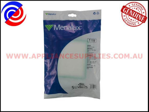 T159 VACUUM BAGS MENALUX SUITS: VOLTA, TORNADO & PROGRESS (PACK OF 5)