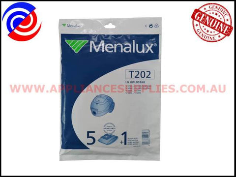 T202 VACUUM BAGS MENALUX SUITS: LG GOLDSTAR (PACK OF 5)