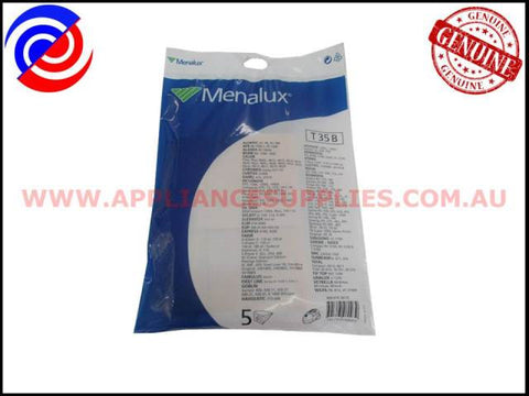 T35B VACUUM BAGS MENALUX SUITS: HOOVER, DELONGHI AND SAMSUNG (PACK OF 5)