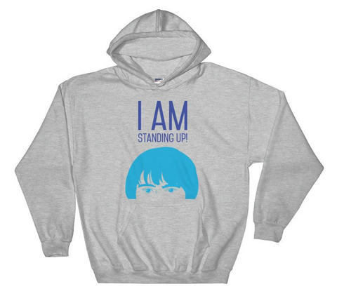 Unisex I AM STANDING UP! fleece hoodie