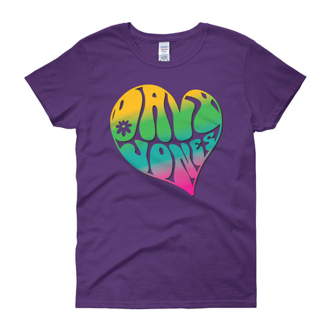 Ladies' psychedelic Davy Jones logo shirt