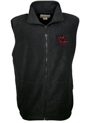 Black fleece Davy Jones signature vest