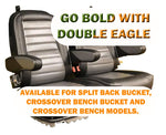 Crossover Bench Bucket Golf Cart Seat