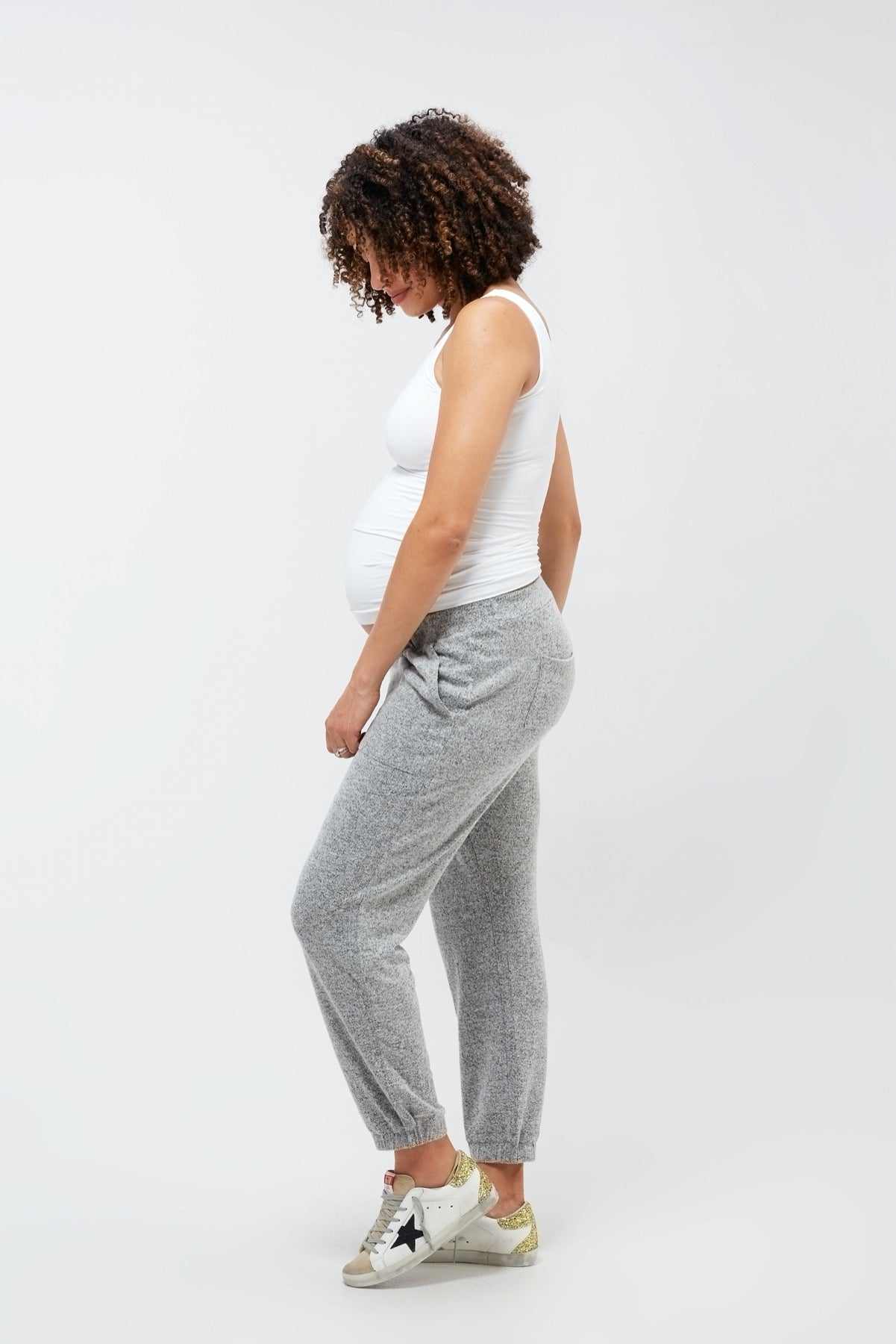 Jenna Lounge Pant Gray Cloud Knit