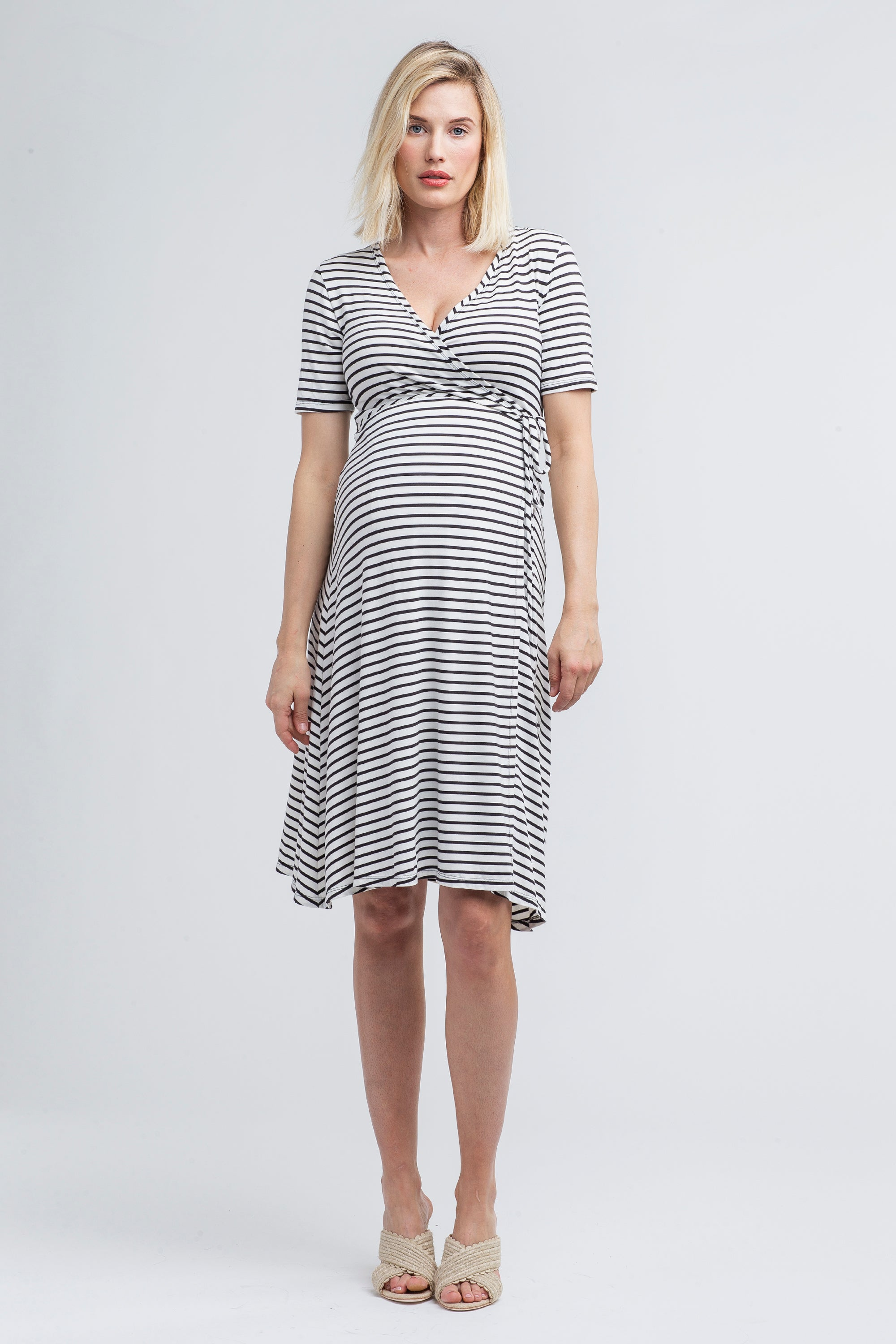 Maya maternity + nursing wrap dress