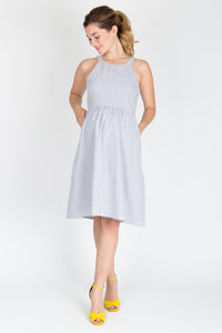 Molly Dress <br> Blue Seersucker