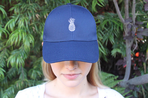 Pineapple Hat: Navy