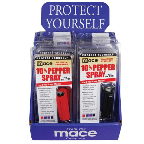 12 Mixed Colors Mace Pepper Sprays - CYA Be Safe