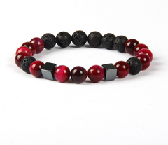 Stone Lava Beaded Bracelet for Men and Women
