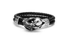 Double Rope Eagle Claws Leather Bracelet for Men and Women