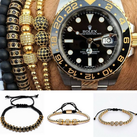 3 Bracelet Set - Get the Look on Point - Gold - BraceletsDR