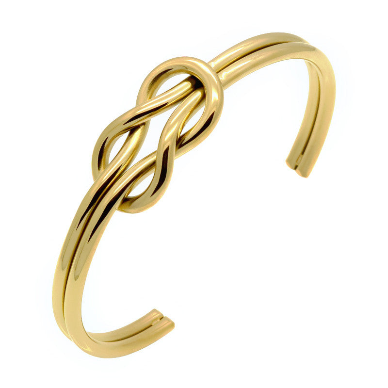 Gold Infinite Bracelet Knot Cuff Bracelet for Men - BraceletsDR