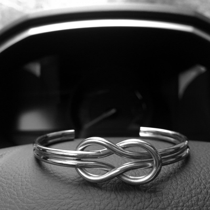 Gold Infinite Bracelet Knot Cuff Bracelet for Men