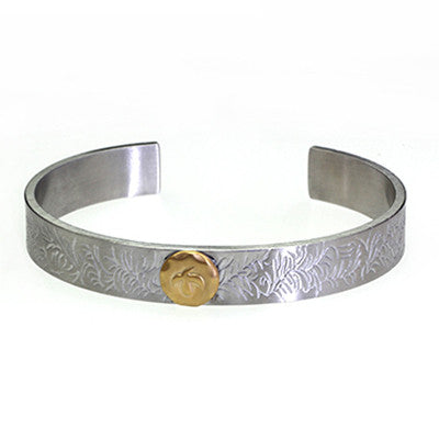 Eagle Bangle Titanium Steel Bracelet Bangle for Men - BraceletsDR