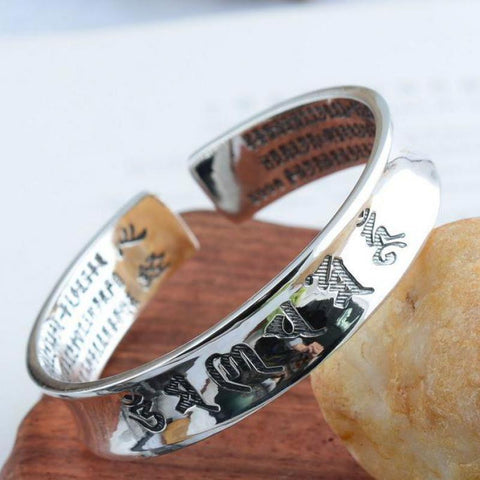 999 Sterling Silver Bangle for Men and Women