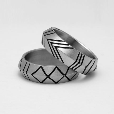 Lattice Strip Ring For Men and Women
