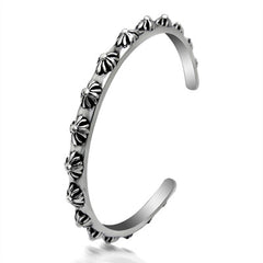 Retro Cuff Titanium Bangle for Men